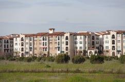 Apartments hacienda. Row of spanish style hacienda  apartments Royalty Free Stock Images