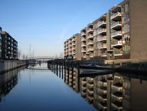 Apartments in Hellerup, Copenhagen. Modern apartmen buildings in Hellerup, Copenhagen stock photos