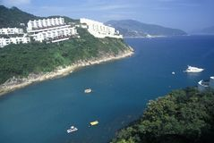Apartments and homes along the shore in Hong Kong Royalty Free Stock Photography