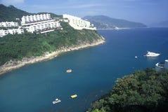 Apartments and homes along the shore in Hong Kong Royalty Free Stock Photography