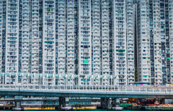 Apartments in Hong Kong Royalty Free Stock Photography
