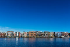 Apartments and house barges on Java Island Amsterdam, the Netherlands Stock Image
