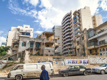 Apartments and houses in central beirut street lebanon Stock Photos