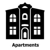 Apartments icon, simple black style Stock Photo