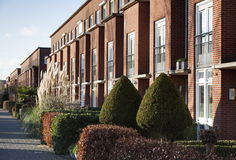 Apartments In A Row With Front Gardens Royalty Free Stock Images