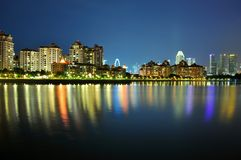 Apartments by Kallang River Stock Images