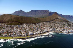 Apartments line the coast in cape town, south africa Stock Photography