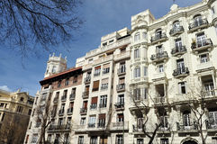 Apartments in Madrid Stock Photography