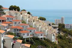 Apartments in the Mediterranean coast Royalty Free Stock Photos