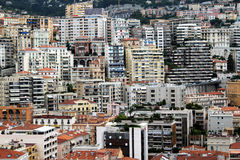 Apartments Of Monaco. Close up of the apartment buildings in Monaco stock images