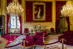 Apartments Napoleon III at the Louvre Stock Photos
