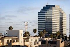 Apartments near Skyscraper Stock Photo