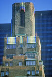 Apartments at night in New York City, NY Royalty Free Stock Image