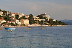Apartments in Podgora, Croatia Royalty Free Stock Image