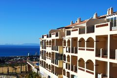 Apartments with sea view, Costa del Sol, Spain. Royalty Free Stock Image