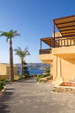Apartments on the seacost in Greece Stock Photography