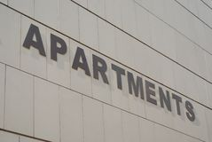 Apartments sign Royalty Free Stock Photography