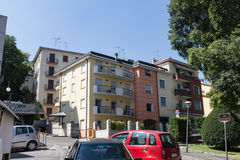 Apartments in the south. Salsomaggiore Italy Royalty Free Stock Photo