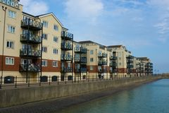 Apartments in Sovereign Harbour, Eastbourne, England Royalty Free Stock Images