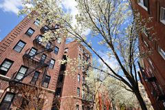 Apartments in the Spring Stock Photos