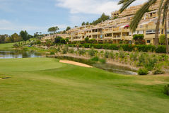 Apartments with view to golf Stock Images