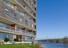 Apartments at the waterfront Royalty Free Stock Photography