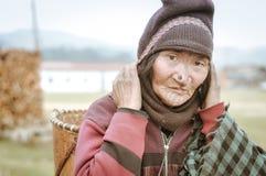 Apatani σε Arunachal Pradesh Στοκ Εικόνες
