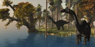 Apatasaurus Island Royalty Free Stock Image
