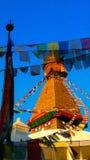Apatempel Stupa Katmandu, Nepal Julian Bound Arkivbild