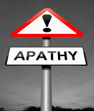 Apathy sign concept. Royalty Free Stock Photography