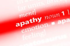 Apathy. Word in a dictionary.  concept royalty free stock photos