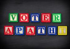 Apatia dell'elettore Fotografia Stock Libera da Diritti