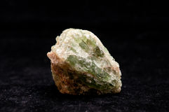 Apatite mineral sample Royalty Free Stock Photos