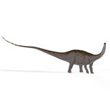 Apatosaurus aka Brontosaurus. Brontosaurus with clipping path, ancient dinosaur royalty free illustration