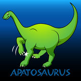Apatosaurus cute character dinosaurs Royalty Free Stock Photography