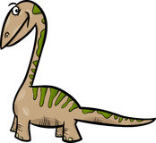 Apatosaurus dinosaur cartoon illustration Stock Photos