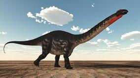 Apatosaurus dinosaur - 3D render Royalty Free Stock Image