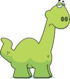 Apatosaurus triste de la historieta Foto de archivo libre de regalías