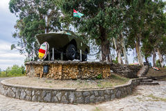 APC installed as a monument to the war of 1992-1993 in Abkhazia, Royalty Free Stock Photo
