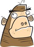 Ape. A dumb looking big brown gorilla or ape Stock Photography