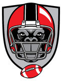 Ape football mascot Royalty Free Stock Photos