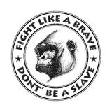 Ape head logo in black and white. Stock Images