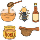 Ape, miele e favo royalty illustrazione gratis