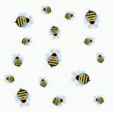 Ape occupato dell'ape illustrazione vettoriale