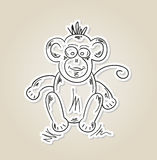 Ape, sketch Royalty Free Stock Photos