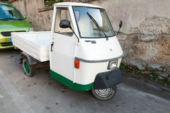 Ape TM P 50 three-wheeled commercial vehicle Royalty Free Stock Images