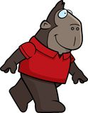 Ape Walking. A cartoon gorilla walking and smiling Stock Photos