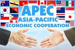 APEC - Asia-Pacific Economic Cooperation. Organization of countries of Asia-Pacific region. APEC - Asia-Pacific Economic Cooperation. International organization stock image