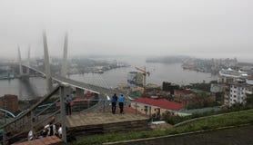 在APEC山顶期间的符拉迪沃斯托克在9月   免版税库存图片