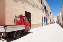 Apecar, Favignana, Italien Stockbilder